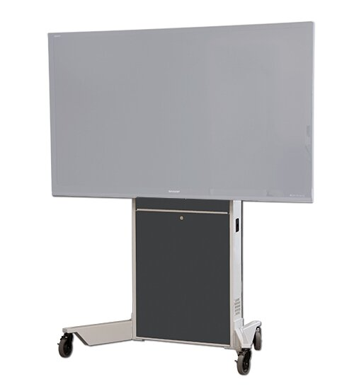 Display/Touch Screen Mobile Electric Lift AV Cart by VFI