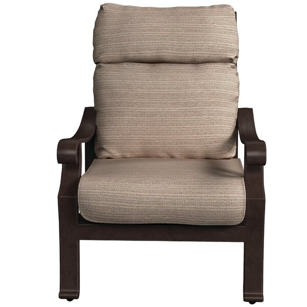Hamer Patio Chair with Cushions by Alcott Hill