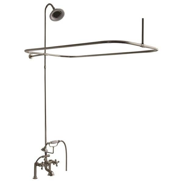 Triple Handle Deck Mounted Clawfoot Tub Faucet Trim With Diverter And Handshower By Barclay