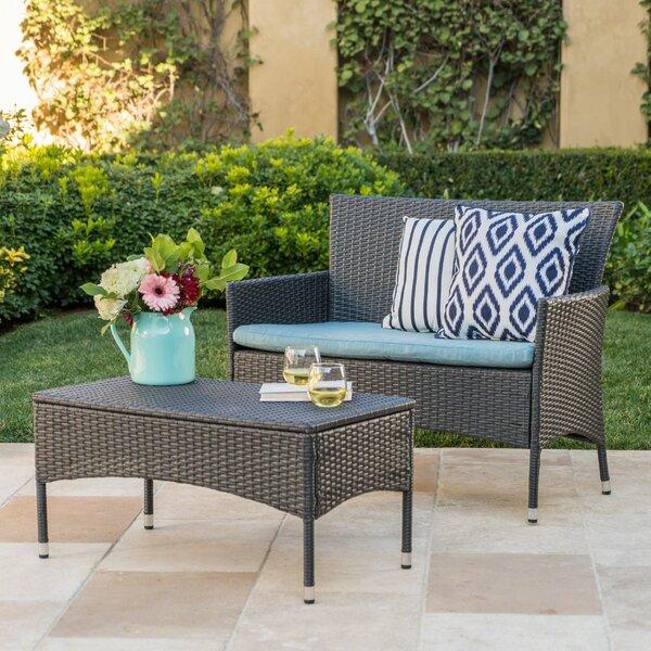 Monaghan 2 Piece  Sofa Set with Cushions by Latitude Run Latitude Run