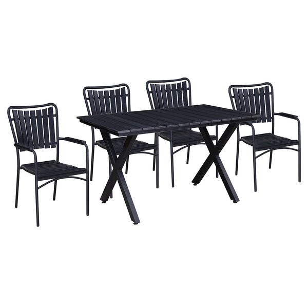 Granville 5 Piece Dining Set by Highland Dunes