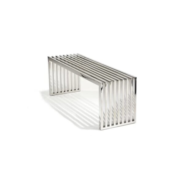 Delaplaine Metal Bench By Orren Ellis