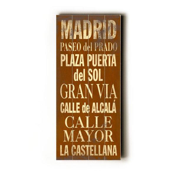 Madrid Textual Art by Artehouse LLC