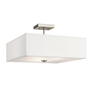 Online Reviews Holloway 3-Light Semi Flush Mount By Latitude Run