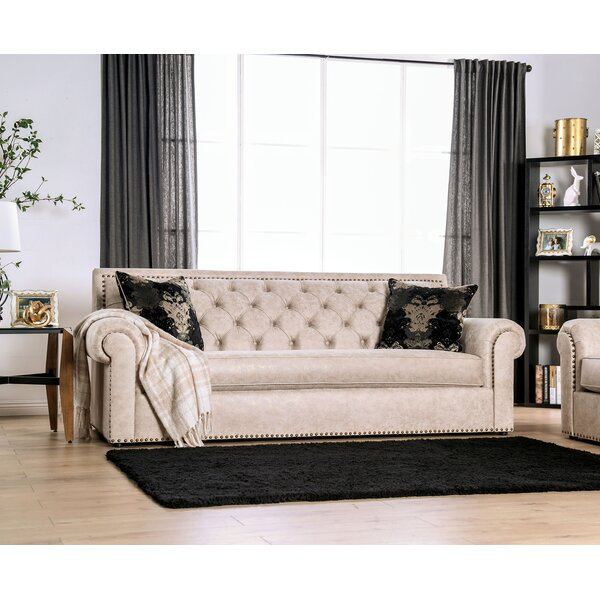 Roseau Rolled Arms Sofa by Canora Grey