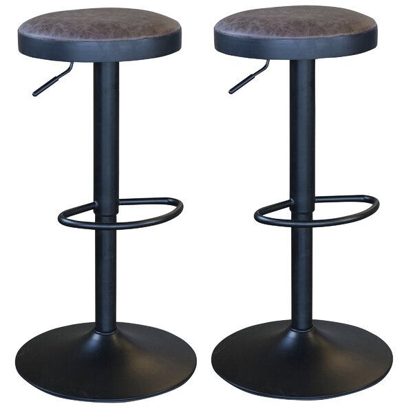 Classic Adjustable Height Swivel Bar Stool (Set of 2) by AmeriHome