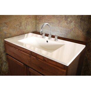 Sauberzen Vitreous China Rectangular Drop-In Bathroom Sink with Overflow Ventamatic