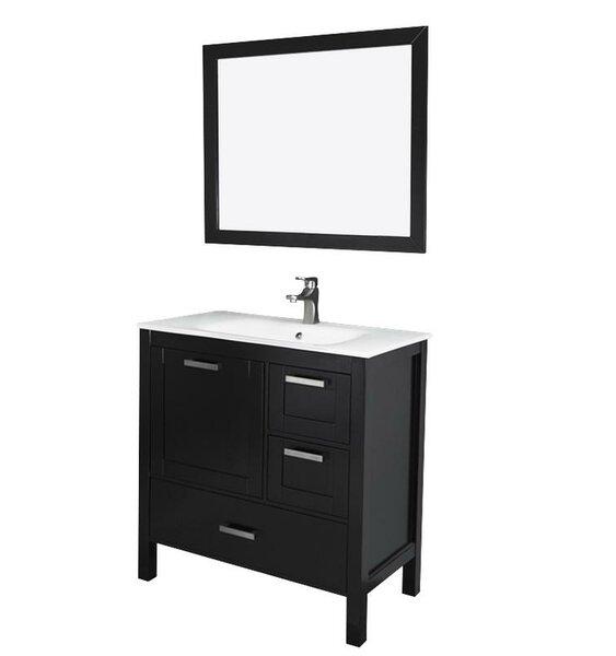 Andre 36 Single Bathroom Vanity Set with Mirror by Longshore TidesAndre 36 Single Bathroom Vanity Set with Mirror by Longshore Tides