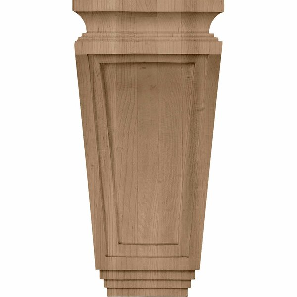 Arts and Crafts 12H x 6W x 4 3/4D Corbel in Rubberwood by Ekena Millwork