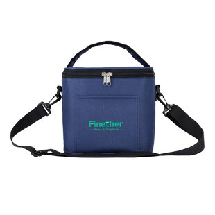 Waterproof Insulation Cooler with Shoulder Strap and Front Pouch, for Lunch Box Food Container Snack Tall Bottles Storage Picnic Tote Bag