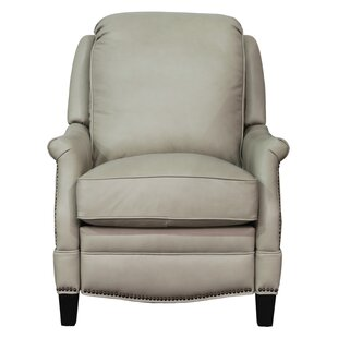 Eleanore Leather Manual Recliner Darby Home Co