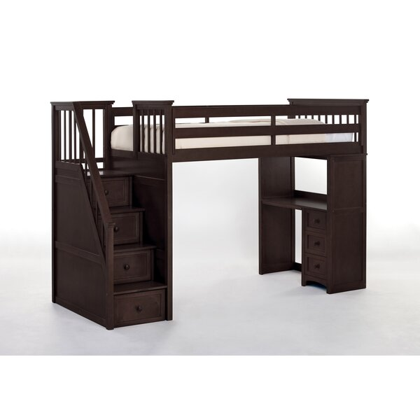 Javin Loft Bed with Drawers by Harriet Bee