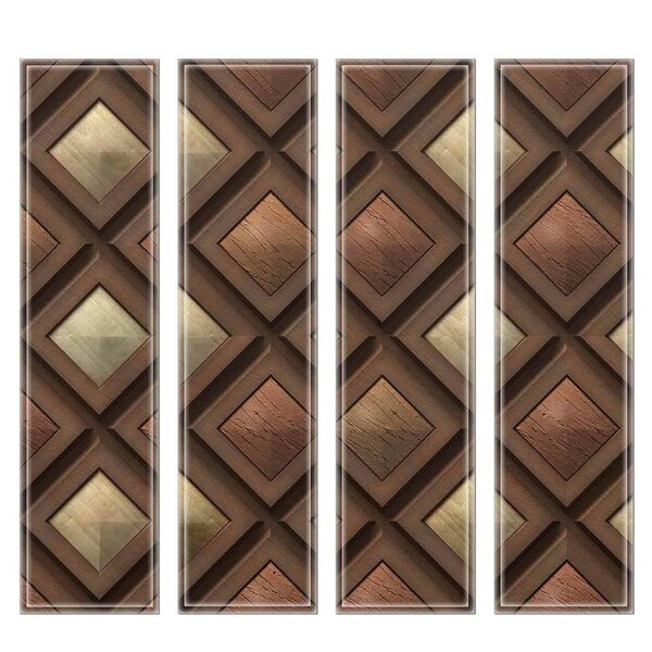 Crystal 3 x 12 Beveled Glass Subway Tile in Brown/Gray by Upscale Designs by EMA