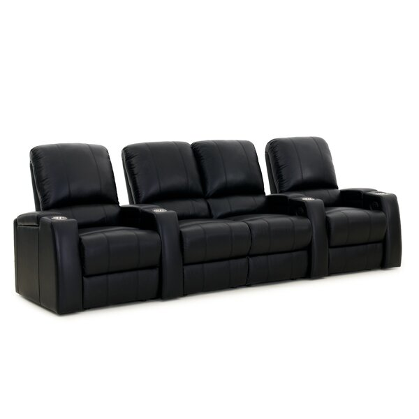 Large Home Theater Curved Row Seating (Row Of 4) By Latitude Run