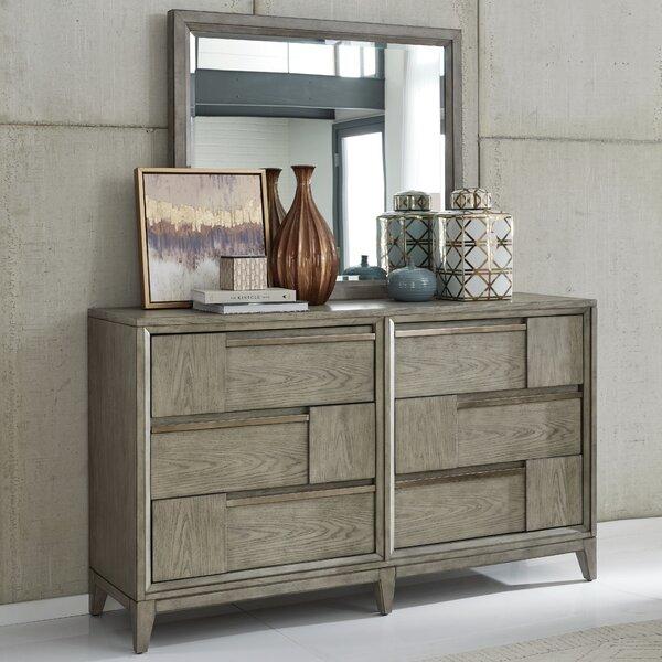 Atelier 6 Drawer Double Dresser with Mirror by Brayden Studio