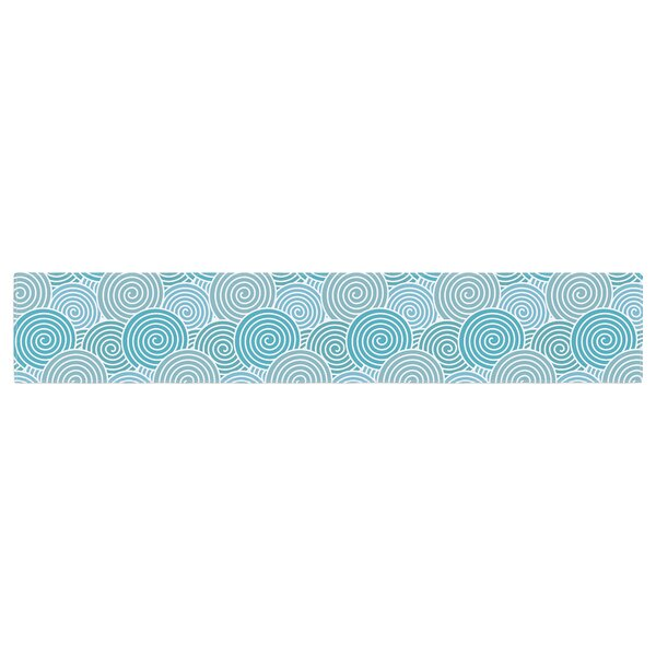 Nick Atkinson Ocean Swirl Table Runner by East Urban Home