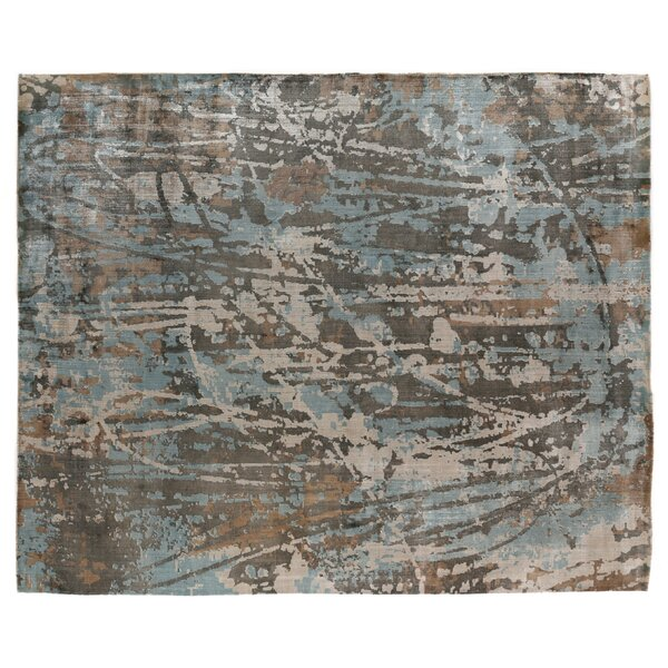 Koda Hand-Woven Blue/Brown Area Rug by Exquisite Rugs