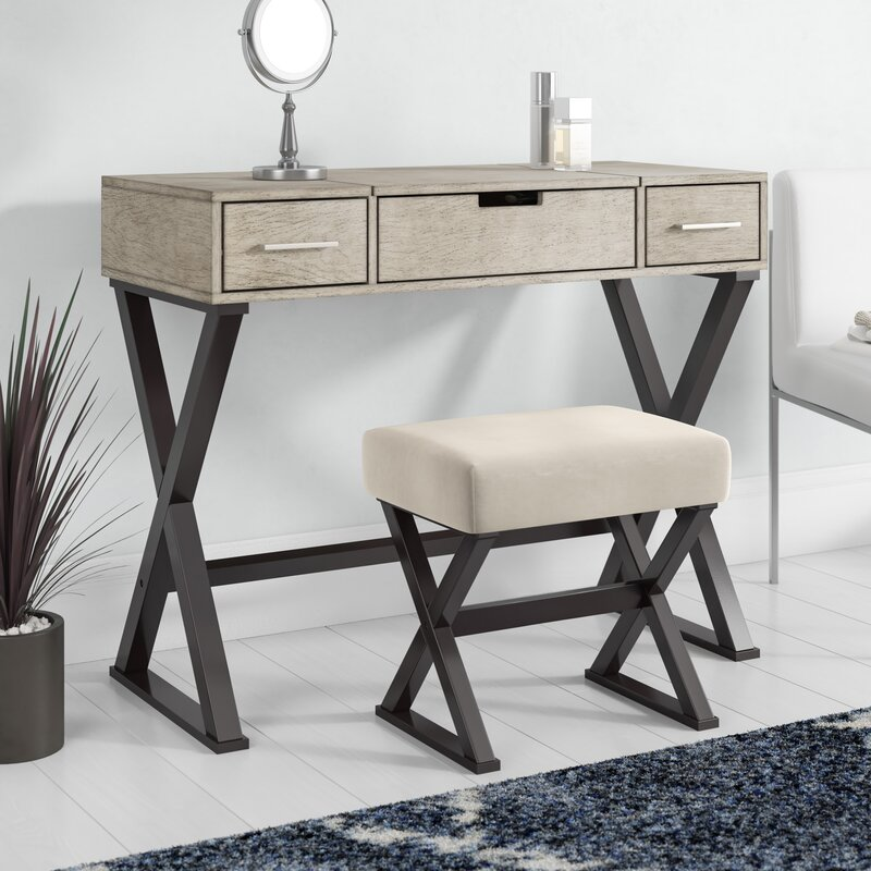 Laurel Foundry Modern Farmhouse Rohan Vanity Set With Mirror Reviews Wayfair