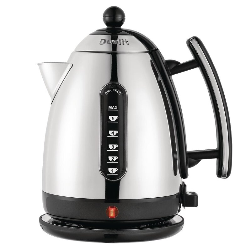 Electric Kettle Tea Water Coffee Cordless Station Base Hot Beverage 1.7 L Black