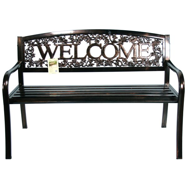 Metal Welcome Bench by Leigh Country