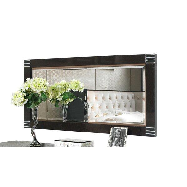 Sommerset Pearl Wood Rectangular Accent Mirror by Orren Ellis