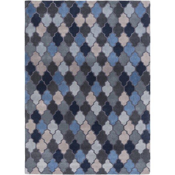 Billmont Slate Geometric Blue Area Rug by Alcott Hill