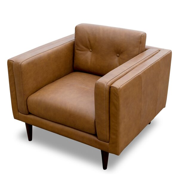 Jossi Genuine Leather Club Chair By Foundry Select