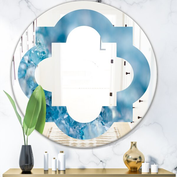 Quatrefoil Crystals Agate Eclectic Wall Mirror