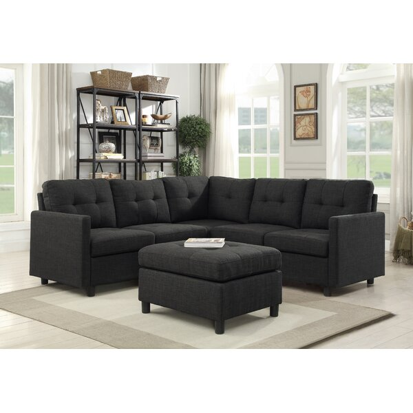 Horley Symmetrical Modular Sectional with Ottoman by Brayden Studio