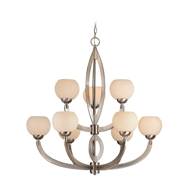 Lenore 9-Light Shaded Tiered Chandelier By Wrought Studio