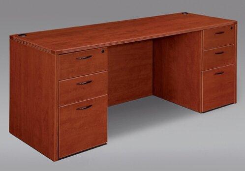 Fairplex Wood Kneehole Executive Desk by Flexsteel Contract