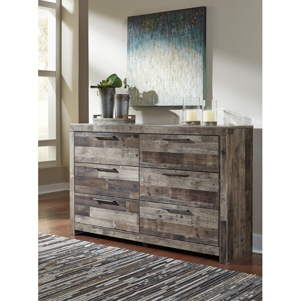 Wilcoxen 6 Drawer Double Dresser by Millwood Pines