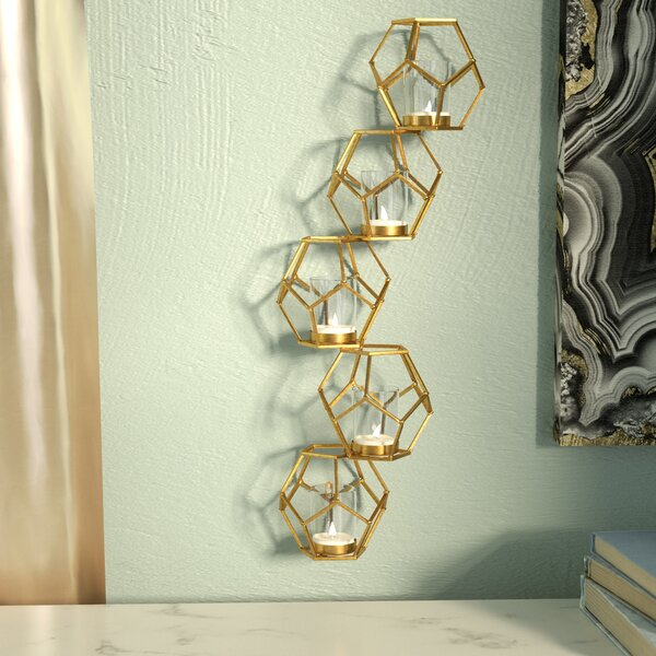 Wayde Contemporary Sparkling Gold Metal Votive by Willa Arlo Interiors
