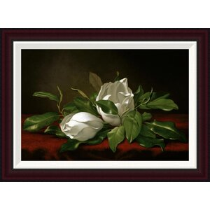 Magnolia by Martin Johnson Heade Framed Painting Print by Global Gallery