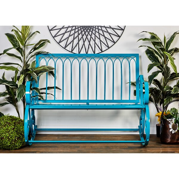 Khadir Metal Garden Bench by Bungalow Rose
