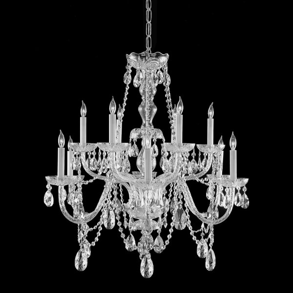 Careen 12 - Light Candle Style Tiered Chandelier By Willa Arlo Interiors