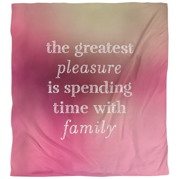 Love and Family Quote Single Duvet Cover