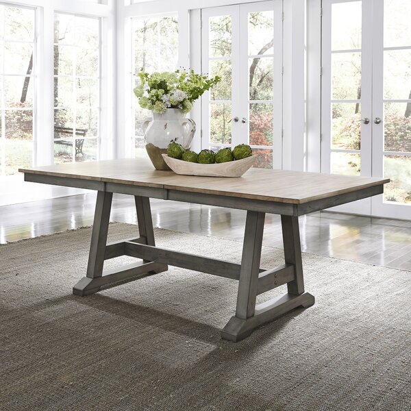 Kruger Solid Wood Extendable Dining Table by Gracie Oaks