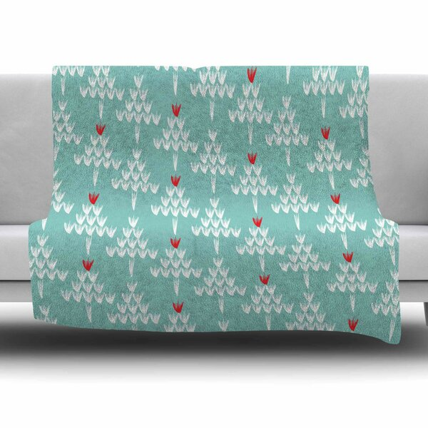 Christmas Blues by Zara Martina Mansen Fleece Blanket by East Urban Home