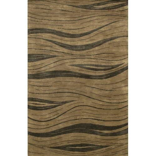 Caines Contemporary Hand Woven Brown/Tan Area Rug by Fleur De Lis Living