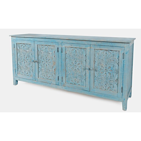 Cheyanna 70-inch Wide Mango Wood Sideboard by Bungalow Rose Bungalow Rose