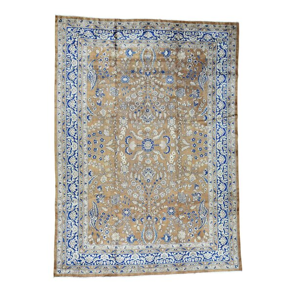 One Of A Kind Casner Hand Knotted 9 9 X 13 3 Wool Brown Blue Area Rug By Isabelline.