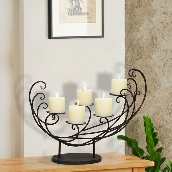 Iron Candelabra by Adeco Trading