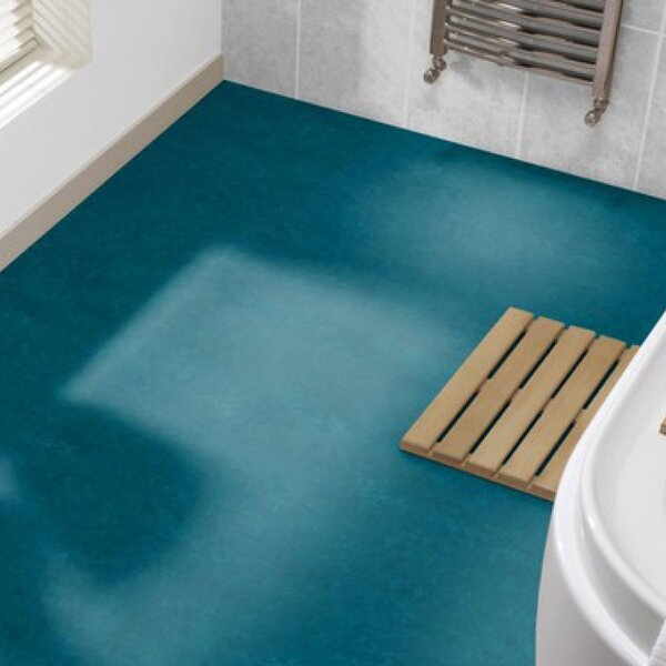 Marmoleum Click Cinch Loc 11.81 x 35.43 x 9.9mm Cork Laminate Flooring in Blue by Forbo