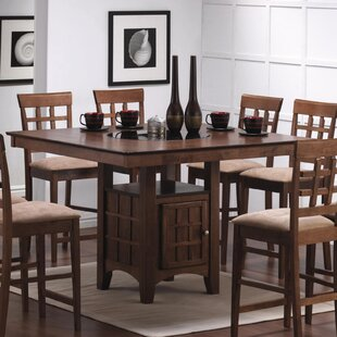 Pub table with lazy susan wayfair farber counter height pub table workwithnaturefo