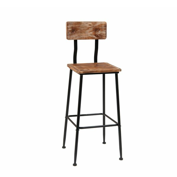 Solid Wood 29'' Bar Stool By ERF Inc.