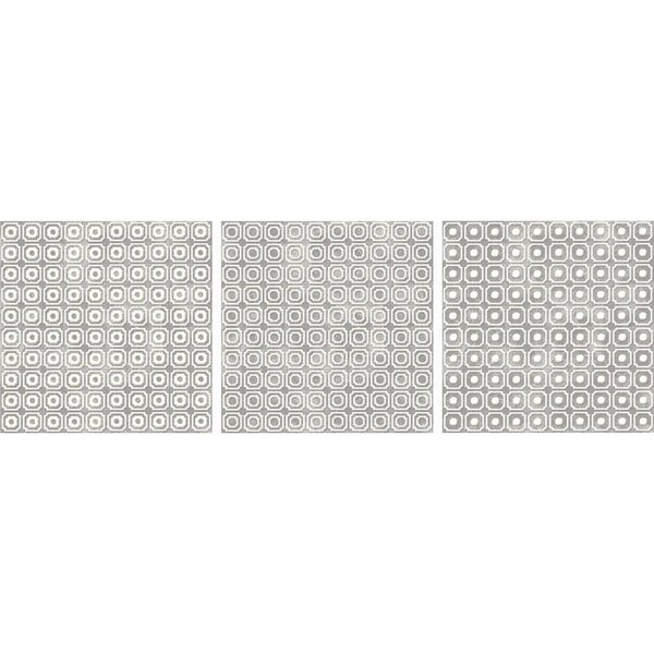 Bargello 8 x 8 Porcelain Field Tile in White by The Bella Collection