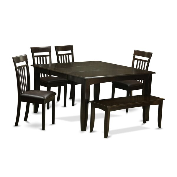 Pilning 6 Piece Wood Dining Set by August Grove