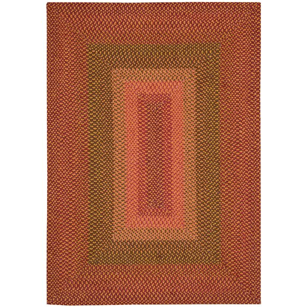Dray Hand-Woven Orange Area Rug by August Grove