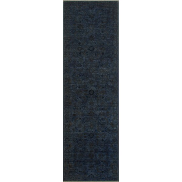 One-of-a-Kind Fairley Over Dyed Reform Hand-Woven Wool Charcoal/Blue Area Rug by Isabelline